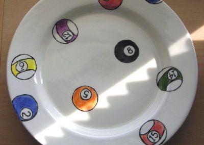 Pool Balls Dinner Plate