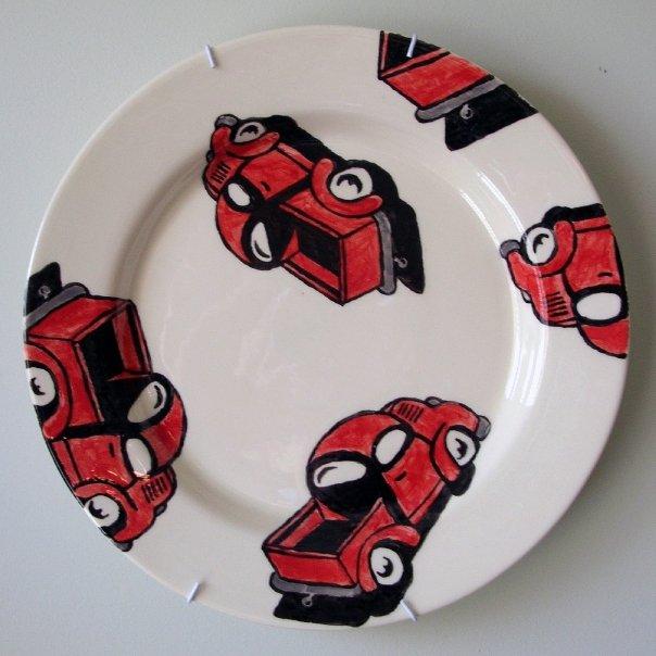 Red Truck Dinner Plate